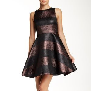 alice + olivia Shimmer Cutout Back Dress